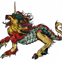Kirin - Stained Glass